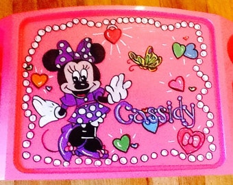 Minnie Mouse tray, Minnie Mouse lap tray, disney lap tray, disney art tray, disney tv tray, disney game tray, minnie mouse game tray