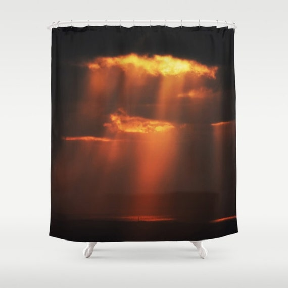 Black shower curtain creation spiritual decor for Spiritual shower