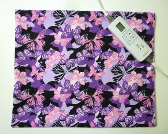 Heating Pad Cover ~ Electric Heating Pad Cover ~ Fits 12 x 15 ~ Butterflies ~ Camo Butterfly