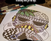 Illustrate Your Fandom- A Coloring Book for All Ages- Space Heroes- 11 Different Designs- eBook