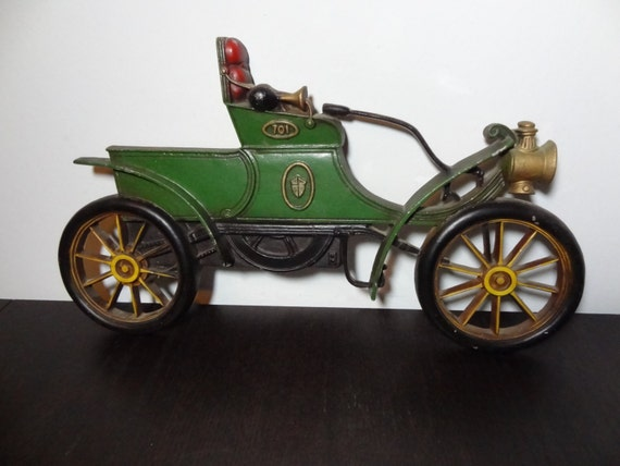 Vintage Cast Iron Antique/Classic Car Wall Hanging Sexton