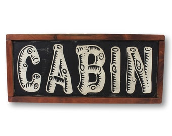 Rustic Cabin Sign, Cabin Sign, Large Cabin Sign, Rustic Cabin Decor, Reclaimed Wood Sign, Large Wood Sign, Cabin Signage, Log Cabin Sign