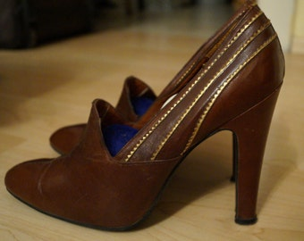 1960's Vintage Pumps High Heels Real Leather