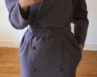 Vintage purple blue sheat dress