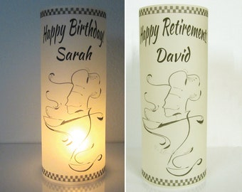 12 Personalized Retirement, Birthday Party Chef, Cook, Food, Centerpiece Table Decoration Luminaries