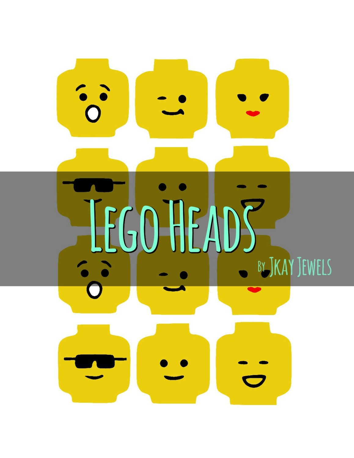 Download Lego Head SVG File For Die Cut Vinyl Machines and by ...