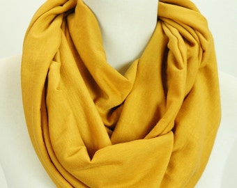 OZ SELLER! Infinity Scarf Cotton Jersey, Mustard