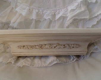 Vintage French Roses Swags Paris Apartment Barbola Wall Shelf Shabby Chic