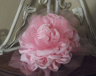 Shabby Chic fabric flower hair clip