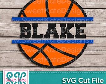 Split Basketball SVG JPG PNG {Scrapbook Die Cut or Heat Transfer Vinyl Cut} Cricut svg Silhouette svg Sports svg Instant Download Sweet Kate