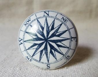 Porcelain Compass Knobs