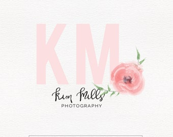 Peach and Fresh Logo , Initials Logo , Watercolor Logo , Perfect For Your Business!