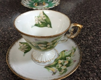 May Lily of the Valley Cup and Saucer