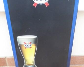 Original Restaurant Cafe Shop Bistro Blackboard Chalkboard Menu Board Kronenbourg 1664 - Ideal for Home/Office/Bar/Cafe