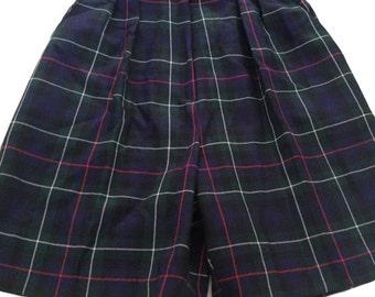 Pringle of Scotland Wool Plaid Shorts - Size XS
