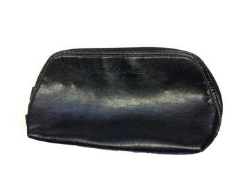 Perry Ellis Portfolio Black Leather Case