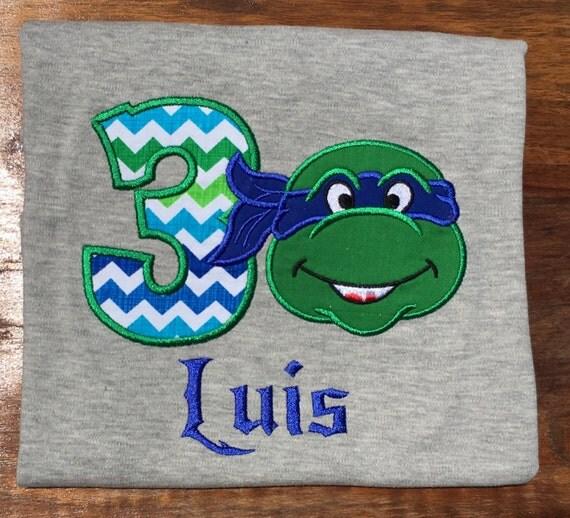 Ninja turtle birthday shirt ninja birthday blue ninja ninja for Where can i buy ninja turtle shirts