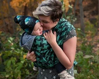Woven Baby Wrap - Daiesu Kelarai Spearmint - Baby Wrap - Baby Carrier - Woven Wrap Baby Carrier