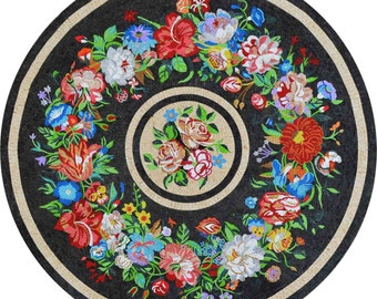 Floral Medallion Rug - Recife