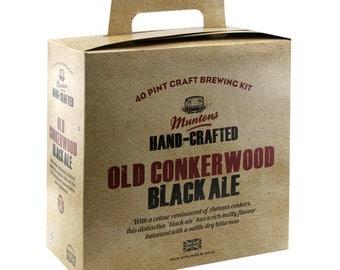 Muntons Craft Old Conkerwood Black Ale 3.6kg   beer  kit homebrew 40 pints