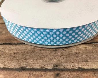 Polka dot printed grosgrain ribbon