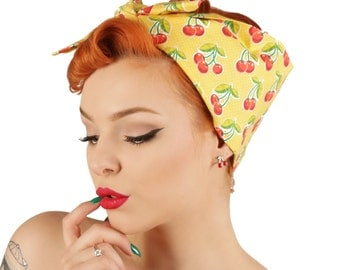 Rock Rockabilly 50s Cherry bandana headscarf hairband