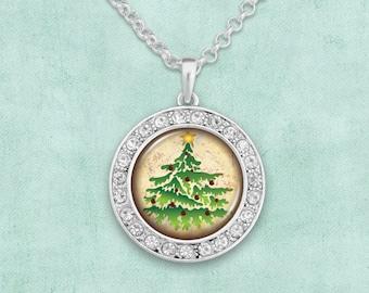 Christmas Tree Artisan Necklace - 57866