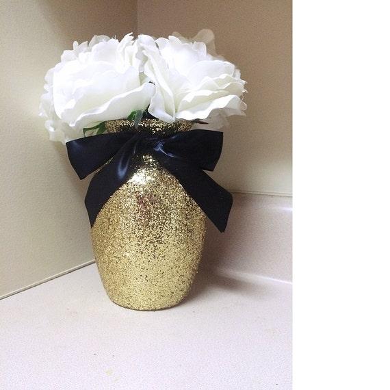 3 Gold Amp Black Vases Gold And Black Baby Shower Black And