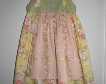 Handmade Girl's Apron Dress
