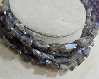 1 Strand Bio Smoky Lemon Quartz  Natural crystal shapes beads 10'' 20. grams 8X10 10X17 MM