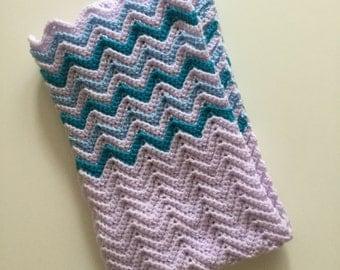 Ripple baby blanket, Keepsake blanket, Pram blanket, Cot size blanket, Zig zag blanket, Crochet baby blanket, New baby gift, Newborn gift