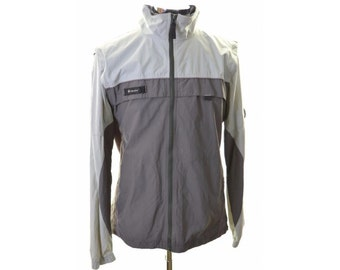 Columbia Mens Windbreaker Jacket Large Grey