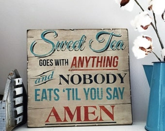 Wooden Sign - Sweet tea - Quotes - Southern - Rustic