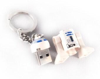 Lego R2-D2 USB Minifig Keychain