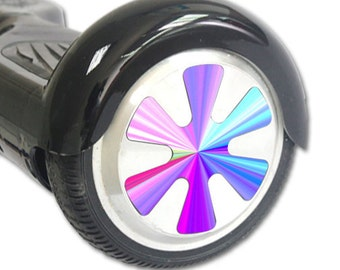 Skin Decal Wrap for Hoverboard Balance Board Scooter Wheels Rainbow Zoom