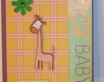 Baby On Board - Giraffe Card