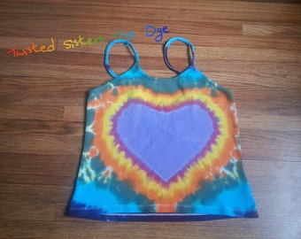 Hearts on Fire Hand Dyed Tank Top