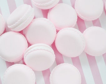 35mm Pastel Pink French Macaron Sweet Decoden Cabochon - 2 piece set