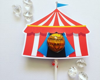 Circus tent lollipop holders