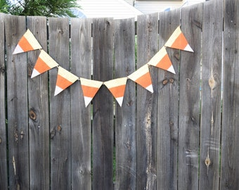 Halloween Decoration- Home Decor- Happy Halloween- Halloween Garland- Fall Decor- Halloween Party- Orange and Black