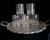 Old Hollywood Cut Crystal Glass Rock Glasses