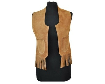 """Suede Waistcoat // Vintage Suede Waistcoat from the 1970's // Bust 34"""""""