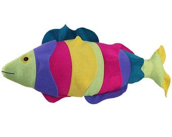 Tropical Fantasy Fish Stuffed Toy Pillow Pattern, Lumbar Pillow, Stuffed Animal Pattern