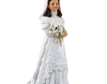 DOLLHOUSE MINIATURE Dolls Bride #HW3089