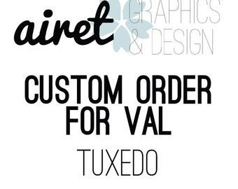 Custom Tuxedo Flask For Val