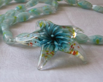 Murano starfish pendant necklace