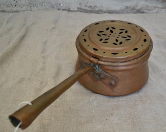 Old copper pot, old copper pan, old italian copper, copper kitchenware, vintage copper kitchenware, vintage copper pan, copper diffusor pan