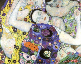 Gustav Klimt: The Virgin/The Maiden. Fine Art Print/Poster (00648)