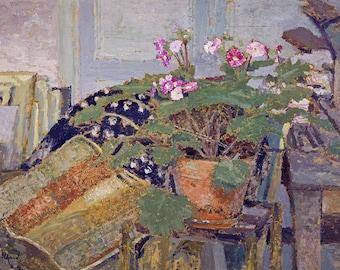 Edouard Vuillard: Pot of Flowers. Fine Art Print/Poster. (002202)