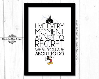 Mickey Mouse - Disney Character Quote - Typography - PRINT